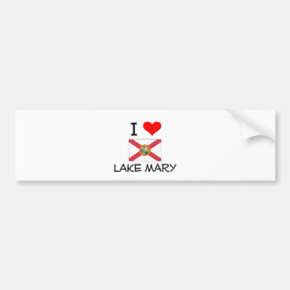 I Love LAKE MARY Florida Bumper Stickers
