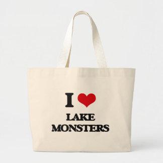 I love lake monsters jumbo tote bag