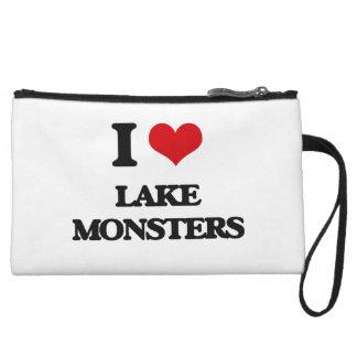 I love lake monsters wristlet clutch