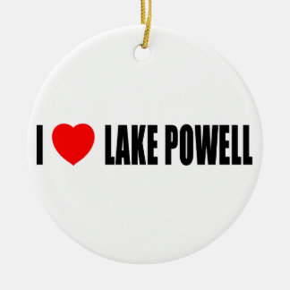I Love Lake Powell Double-Sided Ceramic Round Christmas Ornament