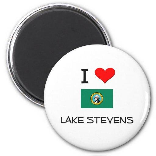 I Love Lake Stevens Washington 2 Inch Round Magnet