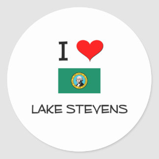 I Love Lake Stevens Washington Round Stickers