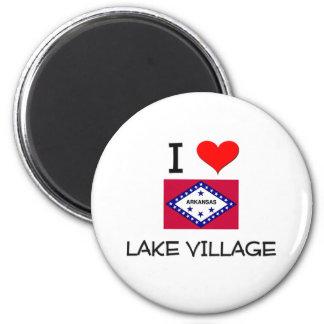 I Love LAKE VILLAGE Arkansas 2 Inch Round Magnet