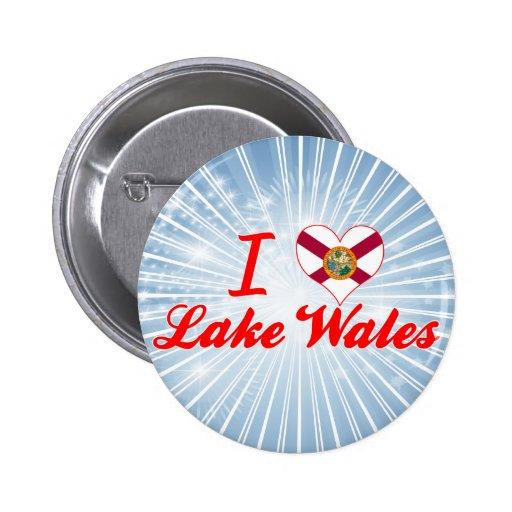 I Love Lake Wales, Florida Pinback Buttons
