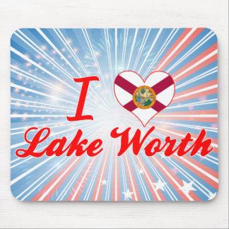 I Love Lake Worth Florida Mouse Pad