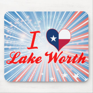 I Love Lake Worth Texas Mousepads