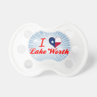 I Love Lake Worth, Texas Baby Pacifier