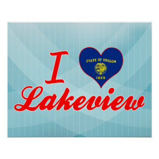 I Love Lakeview, Oregon Poster