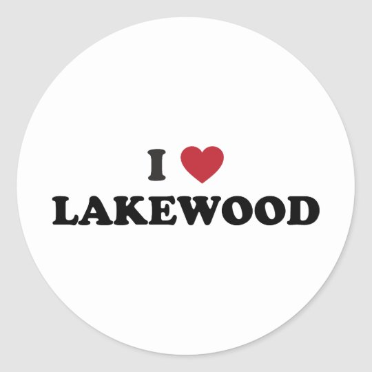 I Love Lakewood Colorado Classic Round Sticker