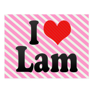 I Love Lam Post Card