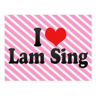 I Love Lam Sing Postcard