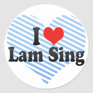 I Love Lam Sing Stickers