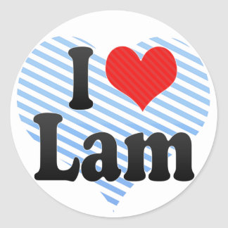 I Love Lam Sticker