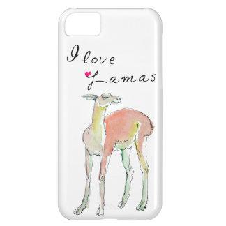 I love Lamas illustration iPhone 5C Case