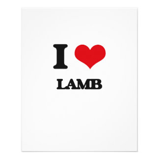 I Love Lamb Personalized Flyer