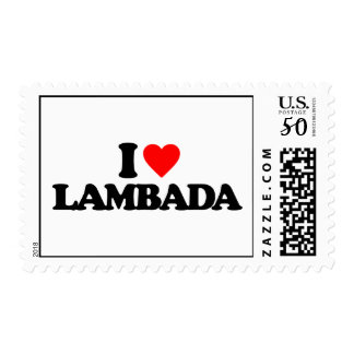 I LOVE LAMBADA POSTAGE