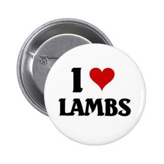 I love lambs button