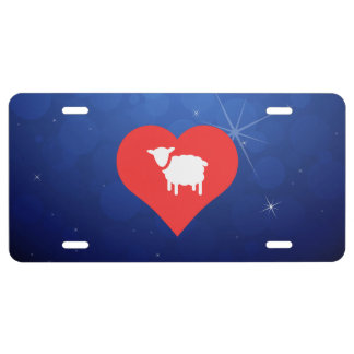 I Love Lambs Cool Symbol License Plate