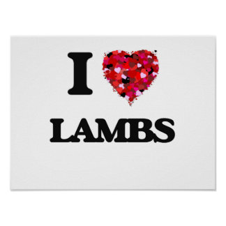 I Love Lambs Poster
