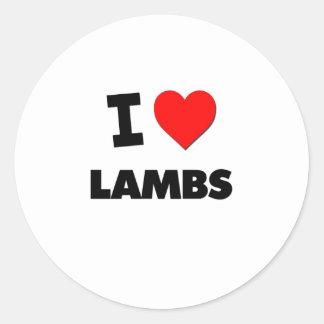 I Love Lambs Classic Round Sticker