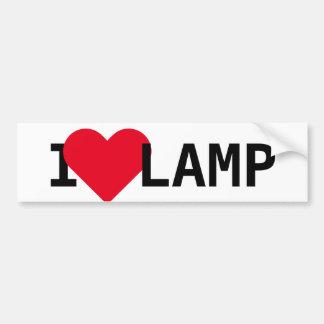 I Love Lamp Bumper Sticker