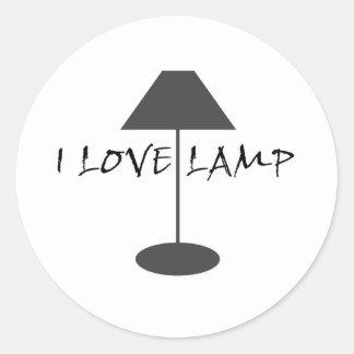 I Love Lamp Classic Round Sticker