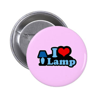 I Love lamp Pinback Buttons