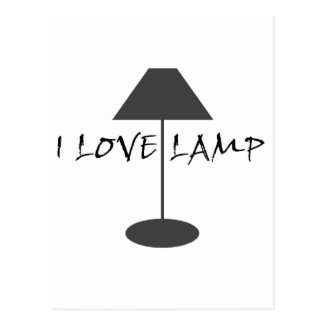 I Love Lamp Postcard