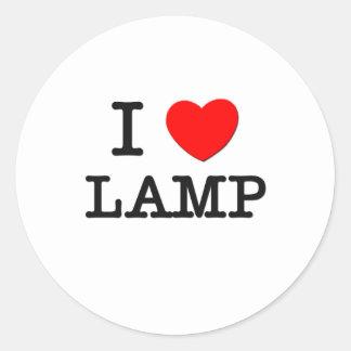 I Love Lamp Stickers