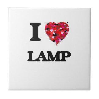 I Love Lamp Small Square Tile