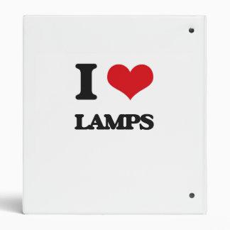 I Love Lamps Vinyl Binders