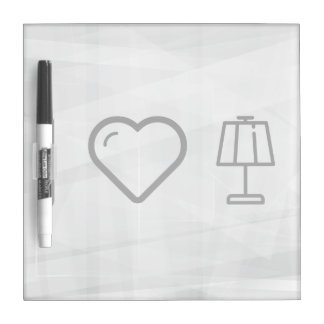 I Love Lamps Dry Erase Board