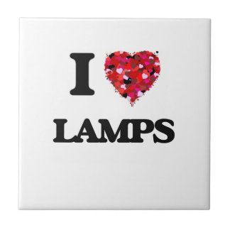 I Love Lamps Small Square Tile