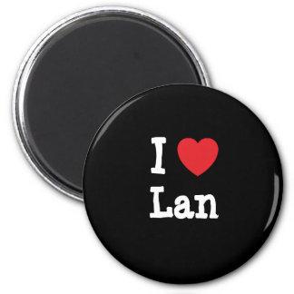 I love Lan heart T-Shirt 2 Inch Round Magnet