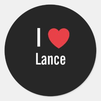 I love Lance Classic Round Sticker