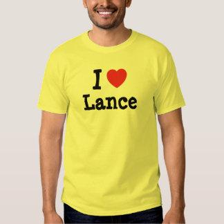 I love Lance heart custom personalized T Shirt