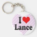 I love Lance Key Chain