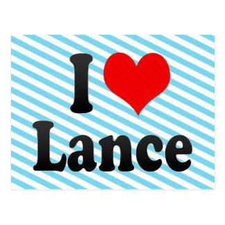 I love Lance Postcard