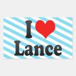 I love Lance Rectangle Sticker