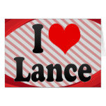 I love Lance Stationery Note Card