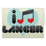 I Love Lancer Greeting Cards