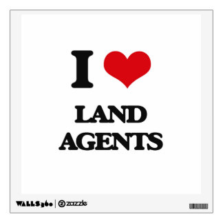 I love Land Agents Room Decal
