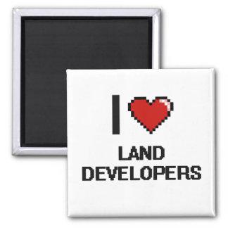 I love Land Developers 2 Inch Square Magnet