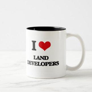 I love Land Developers Coffee Mugs