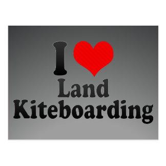 I love Land Kiteboarding Postcard