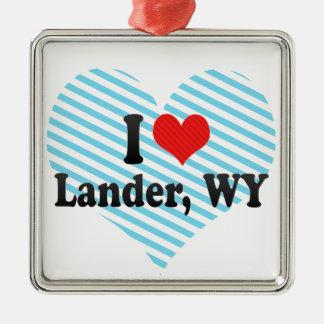 I Love Lander, WY Ornaments