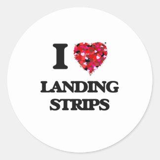 I Love Landing Strips Classic Round Sticker