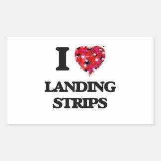 I Love Landing Strips Rectangular Sticker