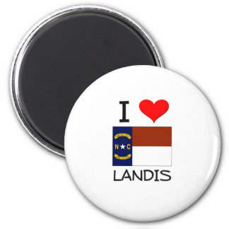I Love Landis North Carolina 2 Inch Round Magnet