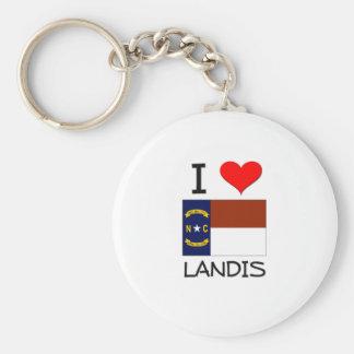 I Love Landis North Carolina Basic Round Button Keychain